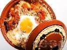 Рецепта Вегетарианско гювече с гъби, картофи, домати и яйца